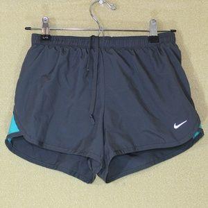 Nike Dri Fit Grey Turquoise Running Shorts